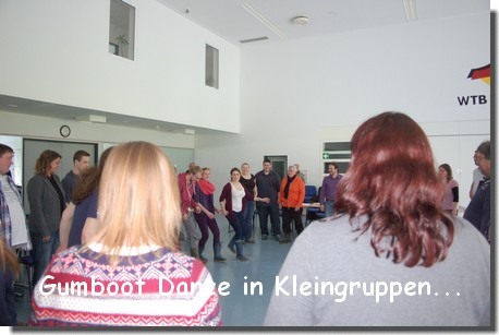 gumboot dance in kleingruppen
